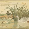 "[""But as Froggy was crossing a silvery brook...a lily-white duck came and gobbled him up""]"
