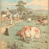 [The cow that tossed the dog ; burying the dead dog]