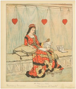 The Queen of hearts.