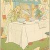 Goldilocks tastes the porridge.]
