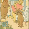 Baby bear sees his broken chair.]