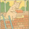 Pig builds his brick house.]