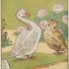 Owl and goose talking.]