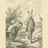 Swinegel und Hase besehen sich Kohl und Rüben