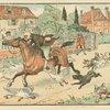 John Gilpin gallops through the turnpike gate]