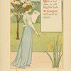 With a leaf from an old English book--a jonquil will serve for a pen.