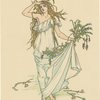 Enter Ophelia, fantastically dressed with straws and flowers.