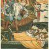A Corsair rescues Queen Blondine's children.]