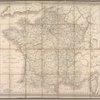 Nouvelle carte itinéraire de la France par départements et divisions militaires ...