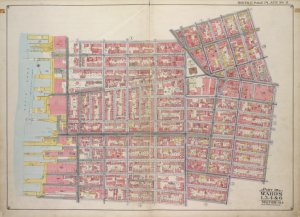 Brooklyn, Vol. 1, Double Page Plate No. 2; Part of Wards 1, 3, 4 & 6, Section 1 & 2; [Map bounded by Pierrepont St., Johnson St., Bridge St., Hoyt St., Smith St.; Including Warren St., Baltic St., East River, Furman St.]