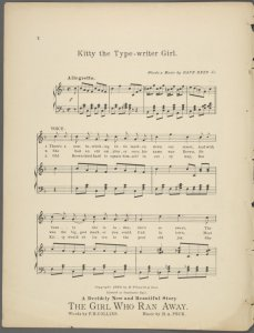 Kitty, the typewriter girl / written and composed by Dave Reed, Jr..