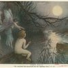 He watched the moonlight on the rippling river.""