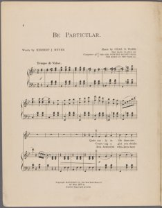 Be particular / words by Herbert J. Meyer ;  music by Chas. B. Ward.