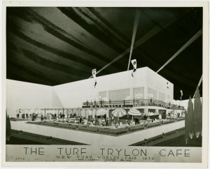 Restaurants - Sketch of Turf Trylon Café