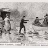 The Road to Liberty.  A station on the Underground Railroad. (Escaped adults and children being convened from boat to waiting coach.)