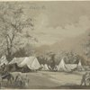 Camp life of the regular cavalry. Co. H Capt. McLean, Chain Bridge, Va.