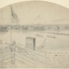 Village of Hampton, Va. sketched on the day of the occupation by the 3rd and 4th Mass. Regiments