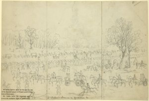McClellan's advance on Yorktown, Va. April 6, 1862 / by E. S. Hall.