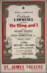 [Window card for The King and I]