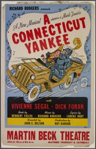 [Window card for A Connecticut Yankee]