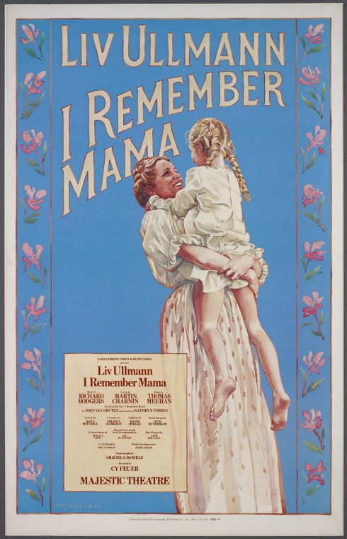 [Window card for I Remember Mama]