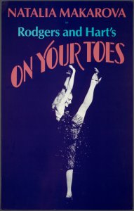 [Window card for the 1983 revival of On Your Toes]