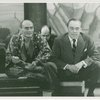 [Yul Brynner (The King) and Richard Rodgers (music) in rehearsal for The King and I]