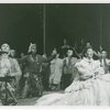 [Yul Brynner (The King) and Gertrude Lawrence (Anna Leonowens) and cast in The King and I]