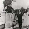 Langston Hughes at Tuskegee Institute with Jessie Fauset (left) and Zora Neale Hurston