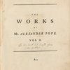 Works of Mr. Alexander Pope ... (Title page, vol. 2)