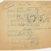 Notes and sketch for a graph of Ludwig van Beethoven, String Quartet, Op. 18, No. 1, F Major, 1st movement, Item# 63 (recto)