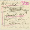 Notes and sketch for a graph of Johannes Brahms, Rhapsodie, Op. 79, No. 1, B Minor, Item# 73 (recto)
