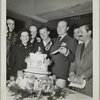 Bob Hope with Jerry Colonna cutting a cake