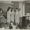 Andrew Sisters performing at at Stage Door Canteen