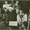 """Hero's Return"" - Wounded service man seated with hostesses at Stage Door Canteen (New York)."