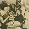 Handing out food at Stage Door Canteen (Boston).