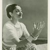 Indrani demonstrating hand gestures in the Orissi style