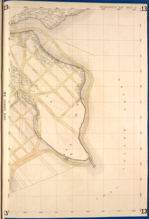 This is What New York and Bronx Topographical Map Sheet 13; [Map bounded by Cdgewater Road Halleck St. Coster Ave.; Including Payne St. Barlow St. Falconer St.] Looked Like  in 1873