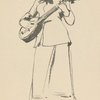 Figure Study, by Frederic Crowninshield [Woman playing the banjo].