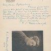 A.L.S. Frank Dellenbaugh to Harry Miller Lydenberg, Aug. 21, 1922. [with portrait of Dellenbaugh]