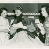 [Celeste Holm (Anna Leonowens replacement) backstage at The King and I signing autographs]