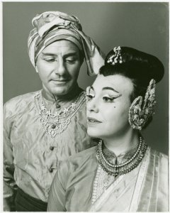[Ted Beniades (The Kralahome) and Anita Darian (Lady Thiang) in the 1968 revival of The King and I]