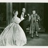 [Gertrude Lawrence (Anna Leonowens), Robin Craven (Sir Edward Ramsey) and Yul Brynner (The King) in The King and I]