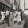 Members of the Wholesale & Warehouse Workers Union picketing in front of the F.W. Woolworth store on West 125th Street, in Harlem, July 31, 1948