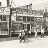 View of Harlem storefronts, 1939