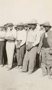 """Solidarity of white, Mexican and negro striking cotton pickers won the victory.  Most of the white workers were from Jim Crow states, particularly Texas, Oklahoma, Arkansas and Missouri.  A great victory was achieved by leaders of Cannery and Agricultural Workers Industrial Union who succeeded in breaking down race prejudice, [as] whites, negros and Mexicans lived in same camps, ate together and fought together."""