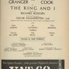 [Program for the 1960 revival of The King and I]
