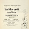 [Souvenir program for the 1956 revival of the King and I]