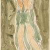 Isadora Duncan (center, hands clasped above head, green tunic)