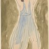 Isadora Duncan (standing center, legs apart, arms above and apart, blue tunic)